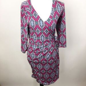 Fantastic Fawn Pink Wrap Dress